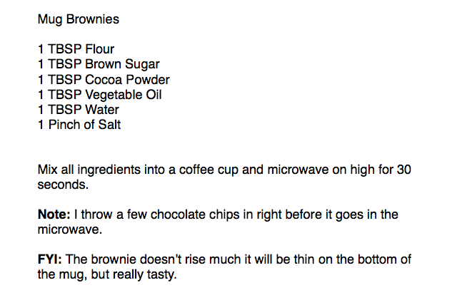 Mug Brown Recipe
