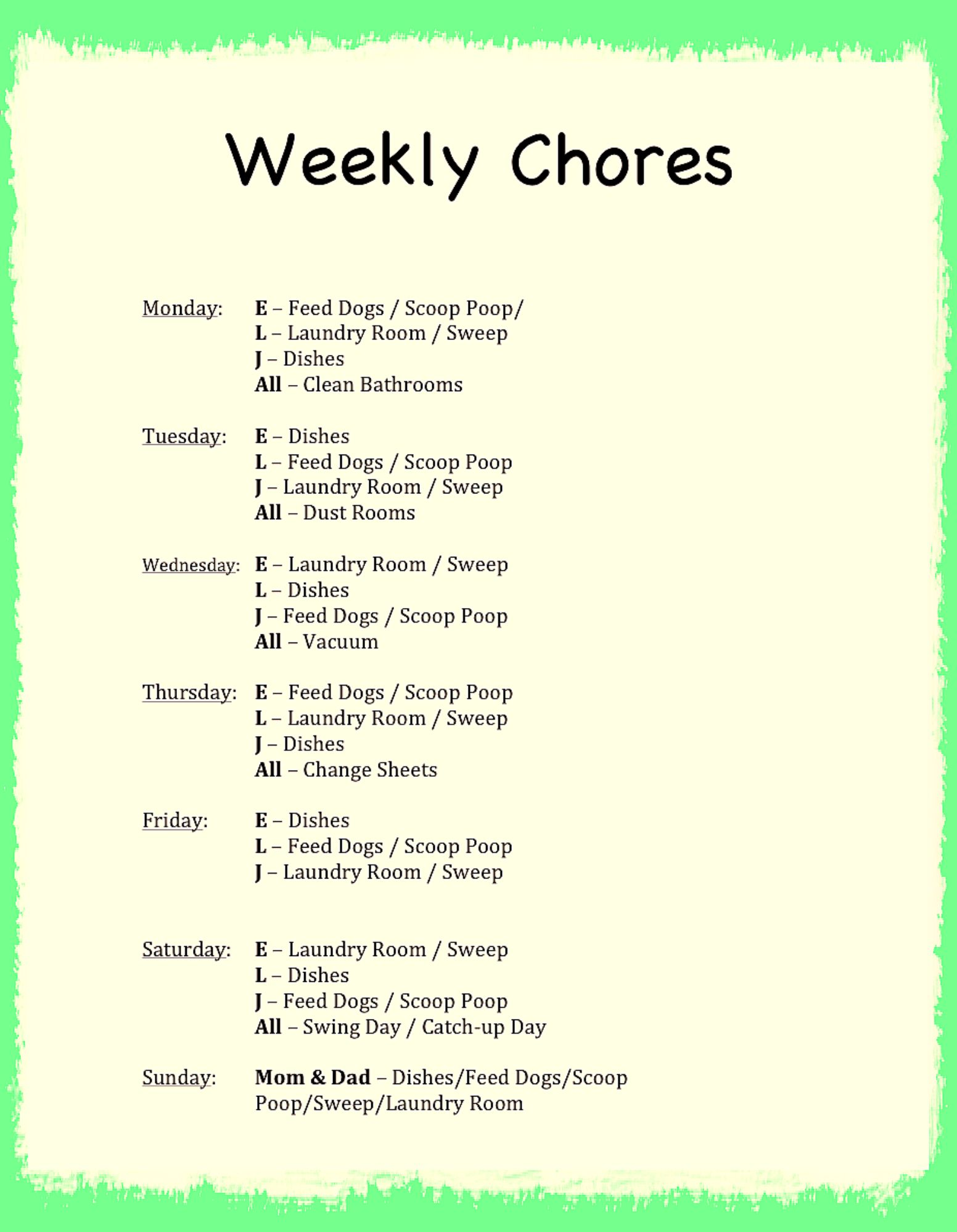 A Cleaning Plan for the Cleaning Inept - The Mom Initiative