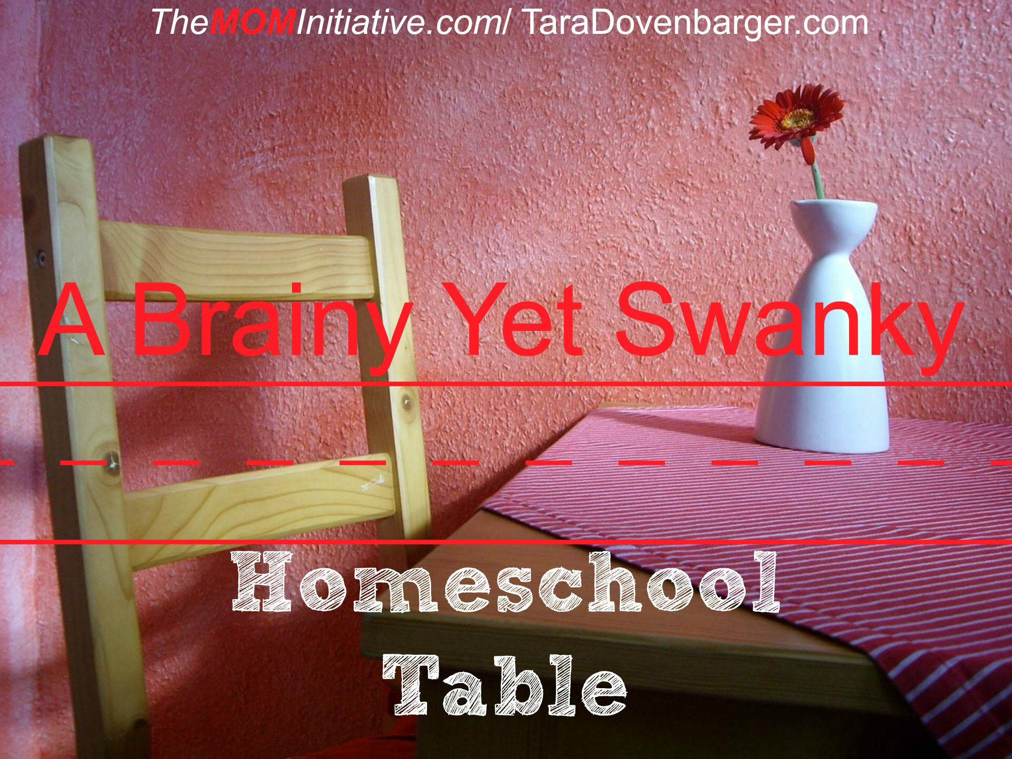 Epic The Secret Trick to a Brainy Yet Swanky Homeschool Table