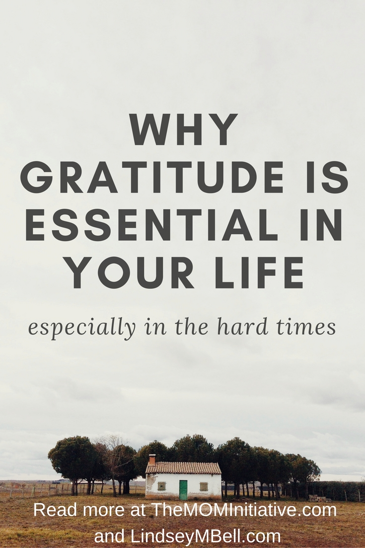 Why gratitude is essential in your life, especially in the hard times - Lindsey Bell and The Mom Inititiave